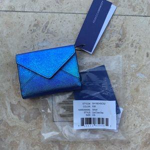 NWT REBECCA MINKOFF IRIDESCENT CARD CASE